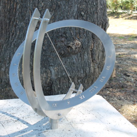 orologio solare inox