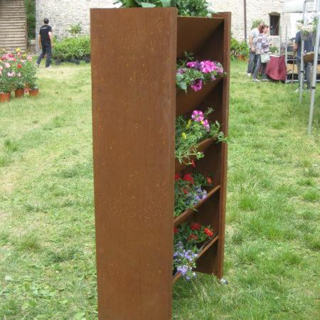 fioriera verticale bifacciale